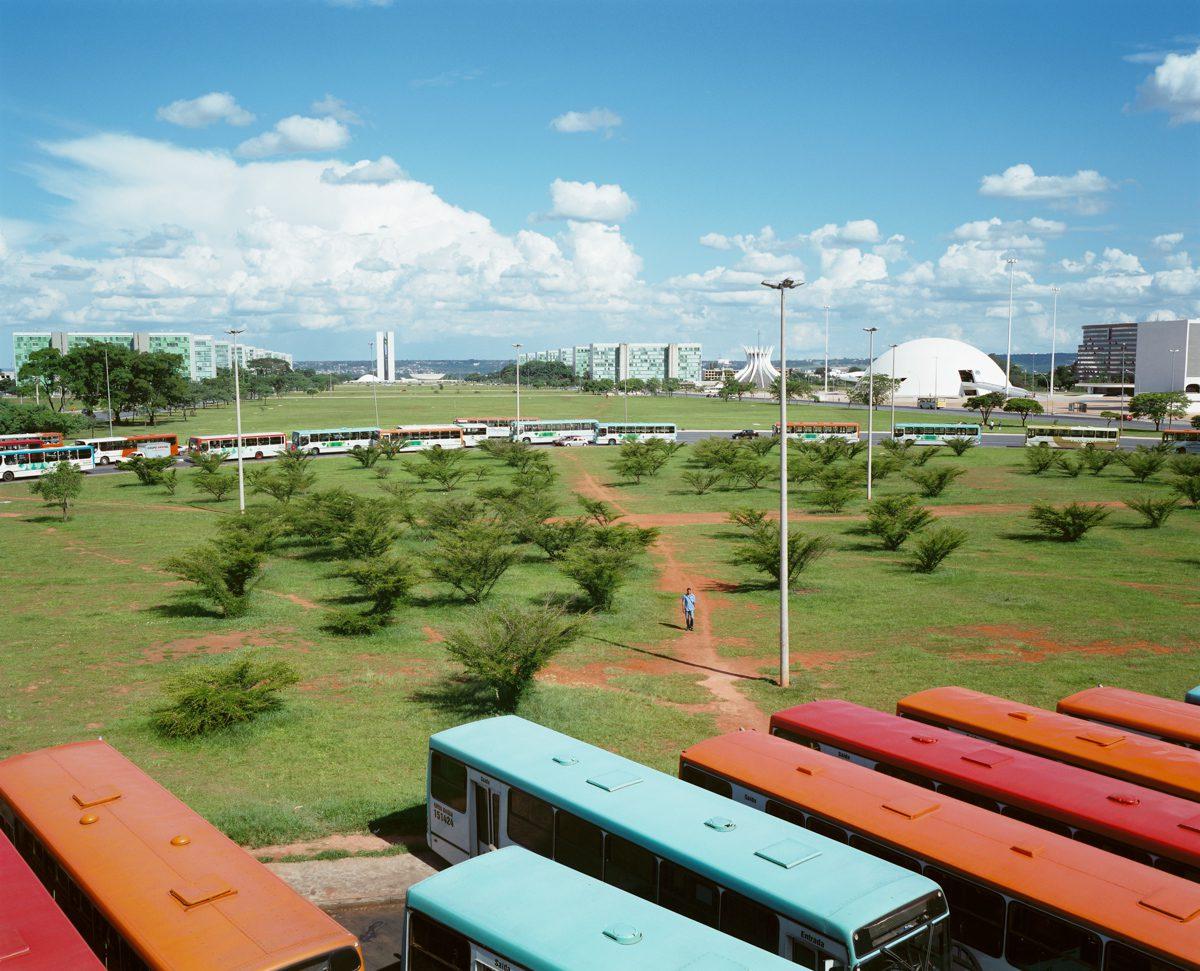 Au centre de l'Axe Monumental, la gare routière Rodoviaria